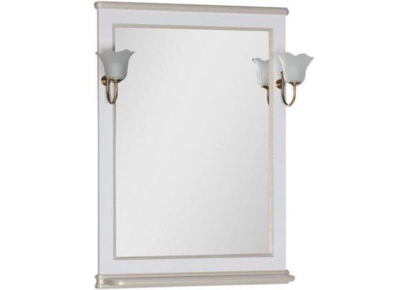 Зеркало для ванной Aquanet Валенса 70 белый краколет/золото - купить в Екатеринбурге