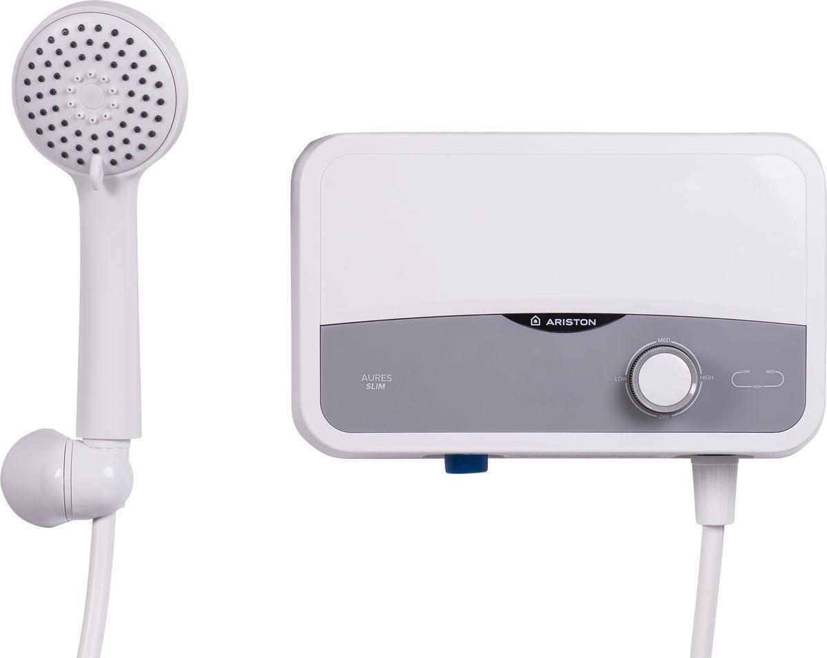 Водонагреватель электрический проточный ARISTON AURES S 3.5 SH PL (душ) - купить в Тюмени