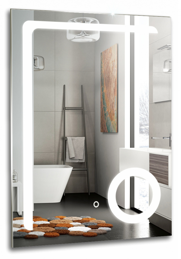 Зеркало для ванной Garda КЛИО 600х800 сенсорный выключатель - купить в Перми