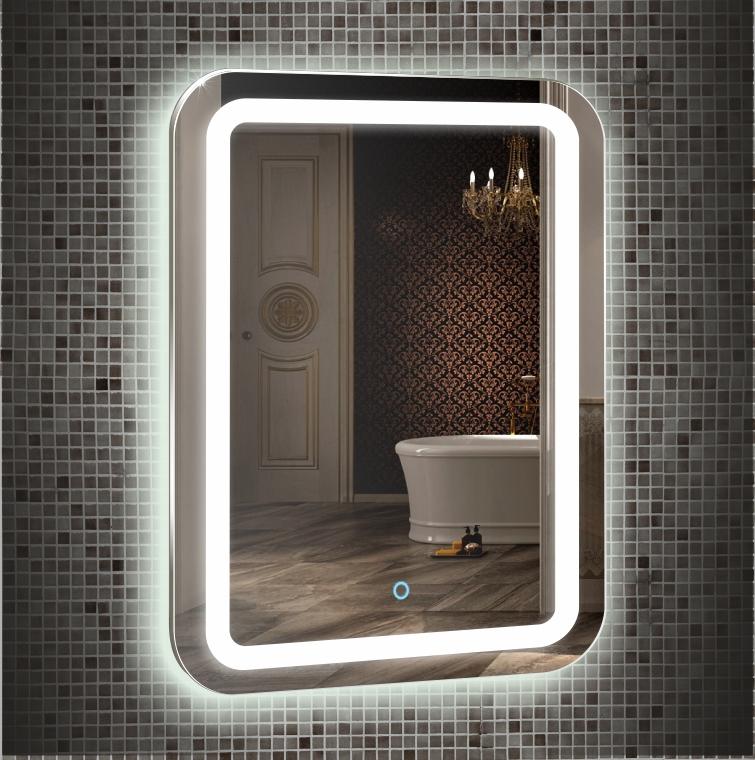 Зеркало для ванной Garda МАЛЬТА 550х800 сенсорный выключатель - купить в Тюмени