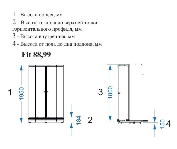 Душевой уголок DOMANI-Spa Fit 99 - купить в Екатеринбурге
