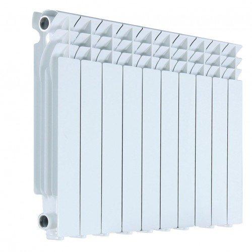 Радиатор алюминиевый AQUAPROM AL 500/80 8 секций, теплоотдача 920 Вт - купить в Челябинске