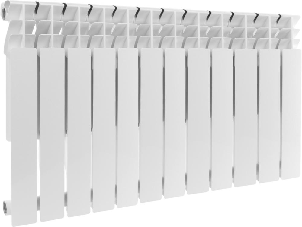 Радиатор алюминиевый AQUAPROM AL 500/80 12 секций, теплоотдача 1380 Вт - купить в Челябинске