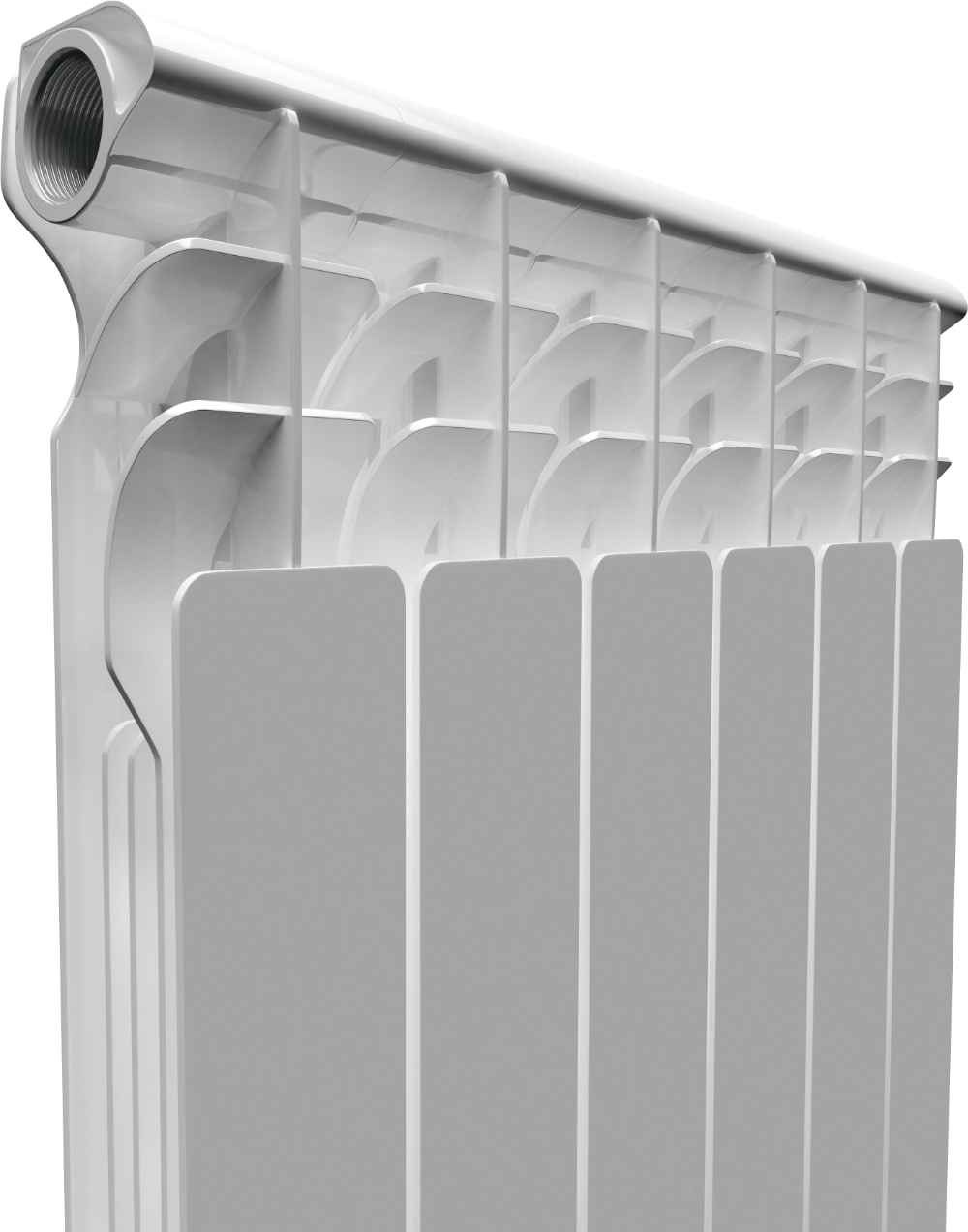 Биметаллический радиатор AQUAPROM BI 500/80 4 секции, теплоотдача 440 Вт - купить в Екатеринбурге