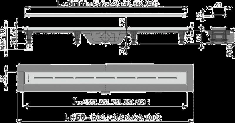 ALCA PLAST Желоб водоотводящий с порогами для перфорированной  решетки - купить в Сургуте