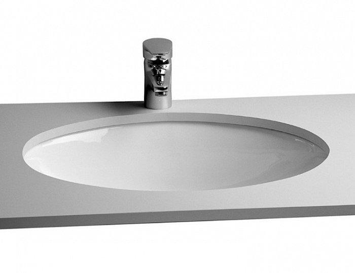 Раковина на столешницу VITRA Arkitekt встраиваемая снизу, 42см, цвет белый - купить в Перми