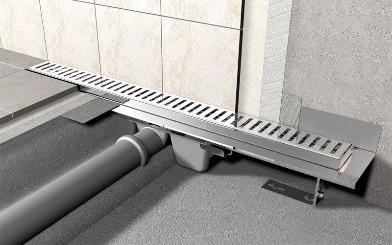 ALCA PLAST Водоотводящий желоб с перфорированной решеткой - купить в Екатеринбурге