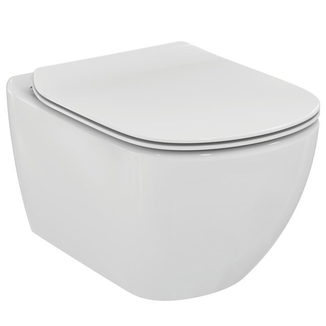 Сиденье Ideal Standard TESI с крышкой, Slim - купить в Екатеринбурге