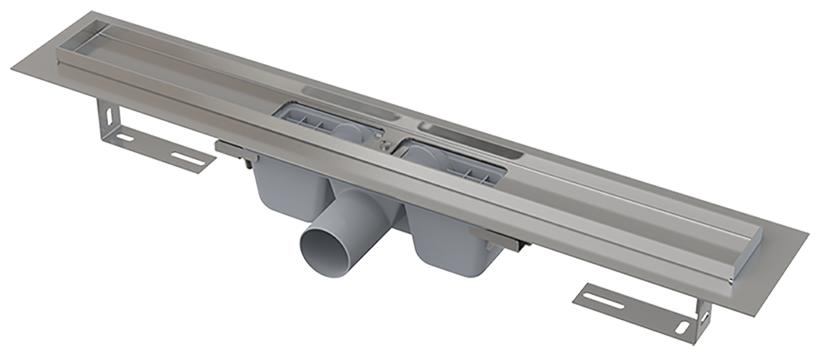 ALCA PLAST Желоб водоотводящий L 750 мм, с порогами для перфорированной решетки, с горизонтальным стоком - купить в Екатеринбурге