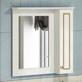 Шкаф-зеркало COMFORTY Зеркало-шкаф Палермо-80 патина золото - купить в Екатеринбурге