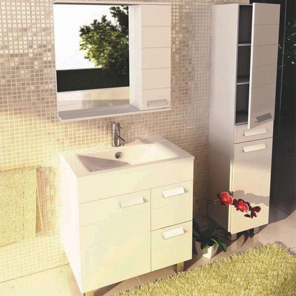 Шкаф-зеркало COMFORTY Модена М-75, белый матовый - купить в Перми