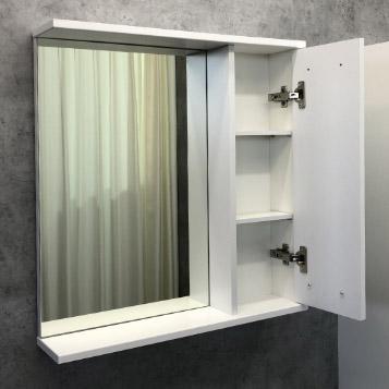 Шкаф-зеркало COMFORTY Модена М-60 белый матовый - купить в Перми