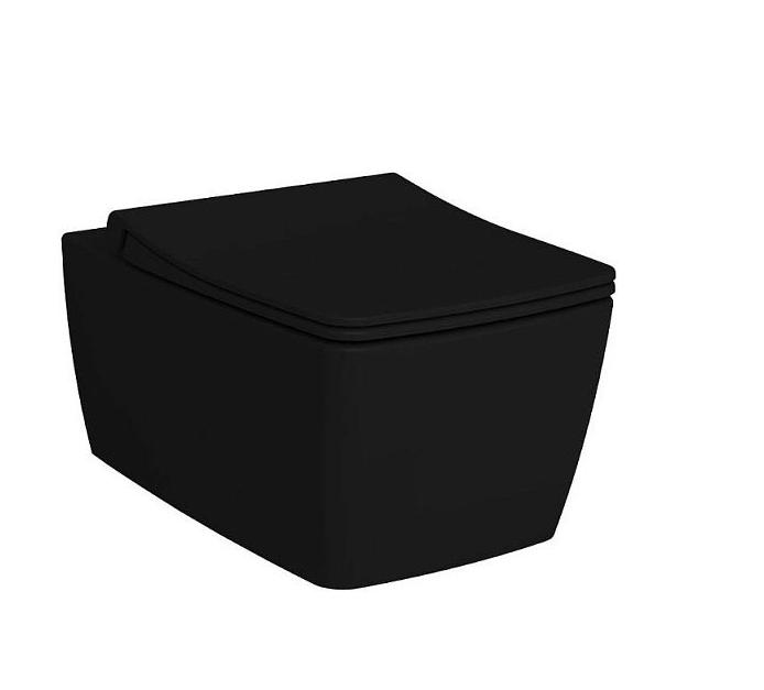 Унитаз подвесной VITRA Metropole Матовый Черный безободковый, матовый чёрный - купить в Перми