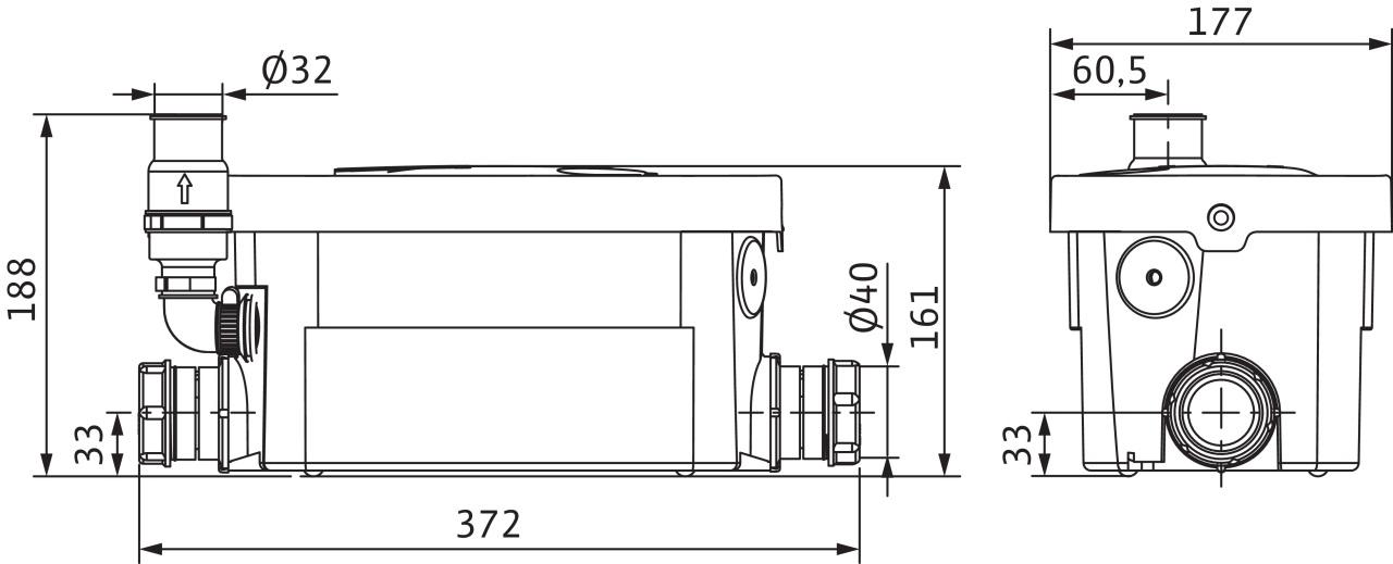 Канализационный насос Wilo HiDrainlift 3-24 - купить в Тюмени