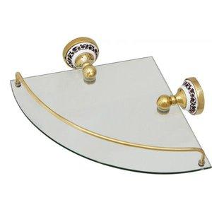 FIXSEN BOGEMA-GOLD Полка стеклянная угловая FX-78503G
