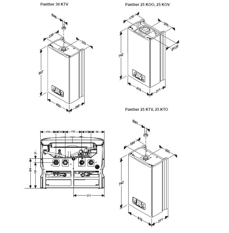 Газовый котел Protherm Пантера 25 KTV, 24,6 кВт - купить в Сургуте